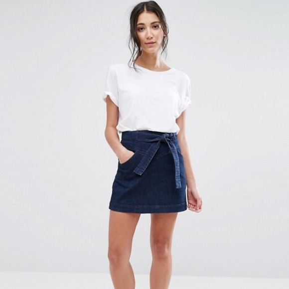 f7e848a18790 ASOS Skirts | Native Youth Tie Waist Denim Mini Skirt | Poshmark